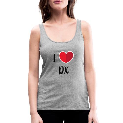 ilove dx black - Débardeur Premium Femme