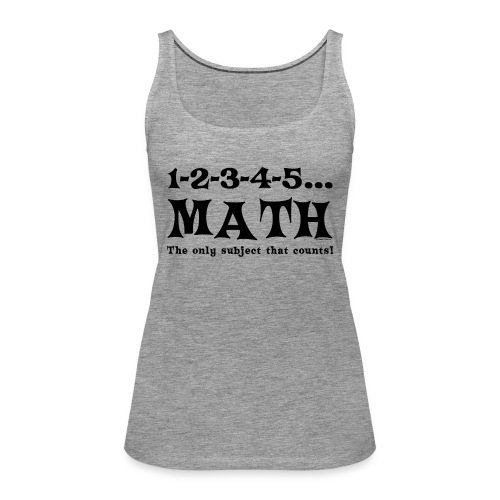 Black Math Counts - Women's Premium Tank Top