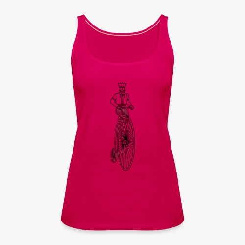 Old style bycicle - Vrouwen Premium tank top