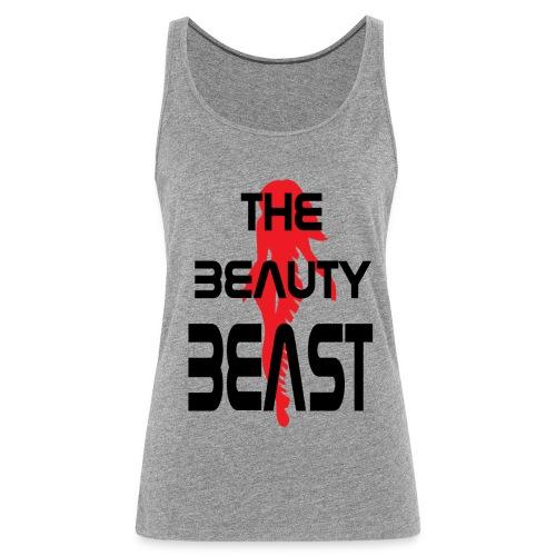 The beauty beast png - Premium singlet for kvinner