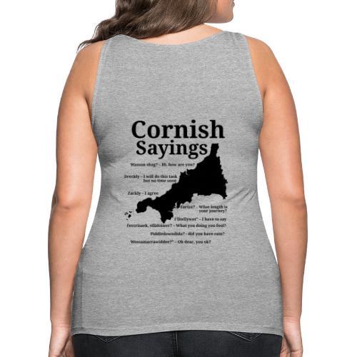 Cornish sayings - Women's Premium Tank Top