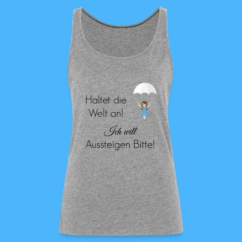 Fallschirm schwarz - Frauen Premium Tank Top