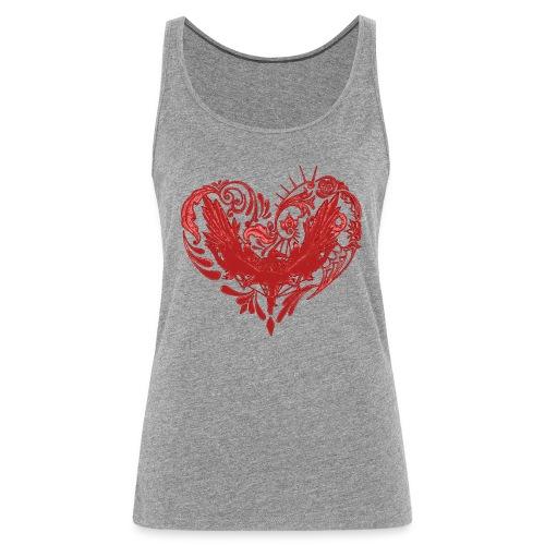 Hjertefuglrød png - Premium singlet for kvinner