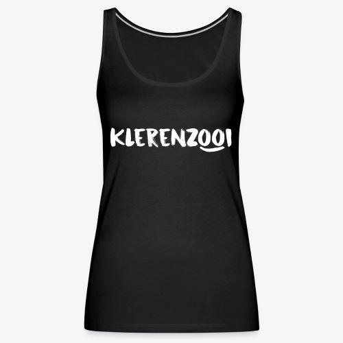 Zwarte vrouwencollectie met wit Klerenzooi logo - Vrouwen Premium tank top