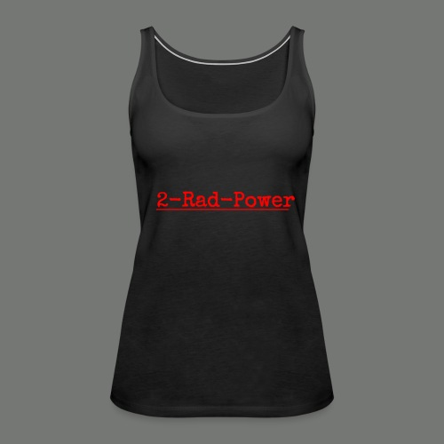 2-Rad-Power Logo Rot/Schwarz - Frauen Premium Tank Top