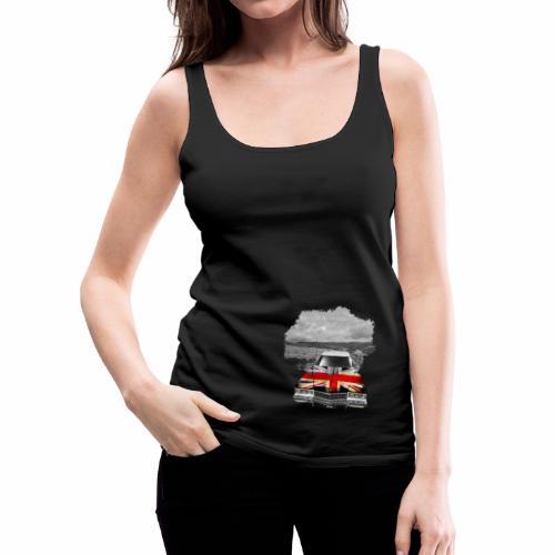 Oldtimer with British flagg. - Frauen Premium Tank Top