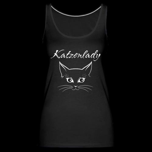 Katzen T-Shirt - Katzenlady - Frauen Premium Tank Top