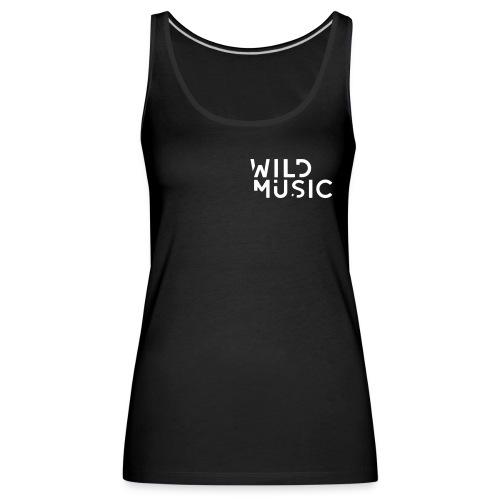 Wild Music Logo - Blanco - Camiseta de tirantes premium mujer