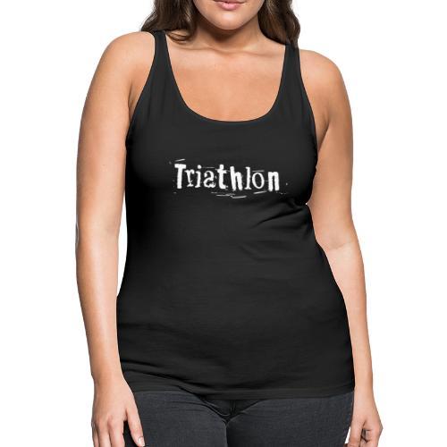 Triathlon Letter Art - Frauen Premium Tank Top