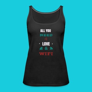 Zwapp Designs Love and WiFi - Frauen Premium Tank Top