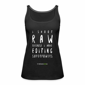 I shoot RAW - Women's Premium Tank Top