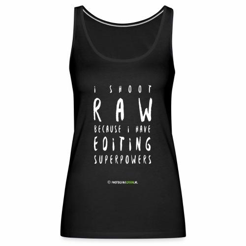 I shoot RAW - Women's Premium Tank Top