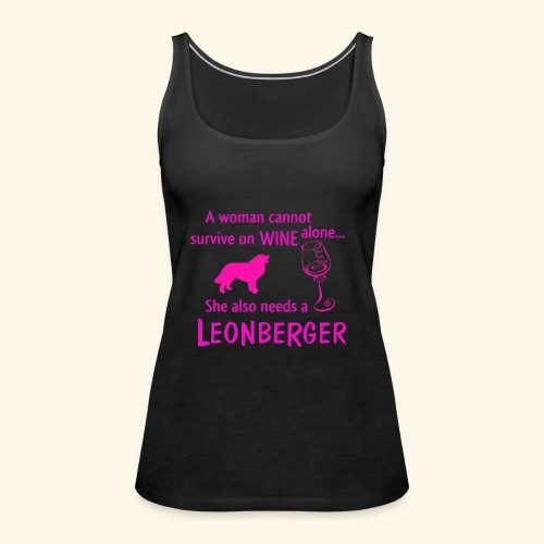 Wine&Leonberger - Premiumtanktopp dam