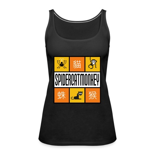 Band-Logo SPIDERCATMONKEY, orange - Frauen Premium Tank Top