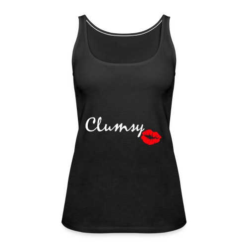 clumsy white - Frauen Premium Tank Top