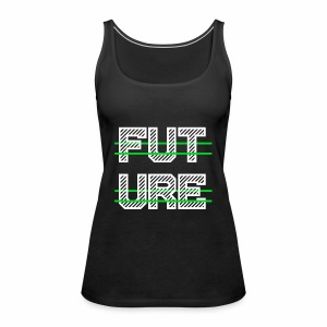 Future Clothing - Green Strips (White Text) - Women's Premium Tank Top