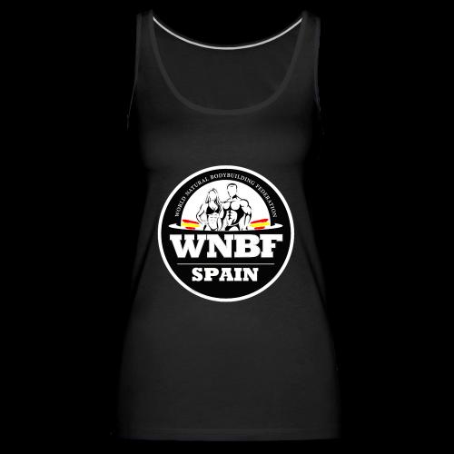 LOGO WNBF SPAIN - NEGRO - Camiseta de tirantes premium mujer