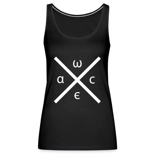 wacelogo white - Frauen Premium Tank Top