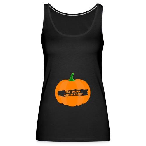 Halloween Pumpkin Shirt for Halloween - Women's Premium Tank Top