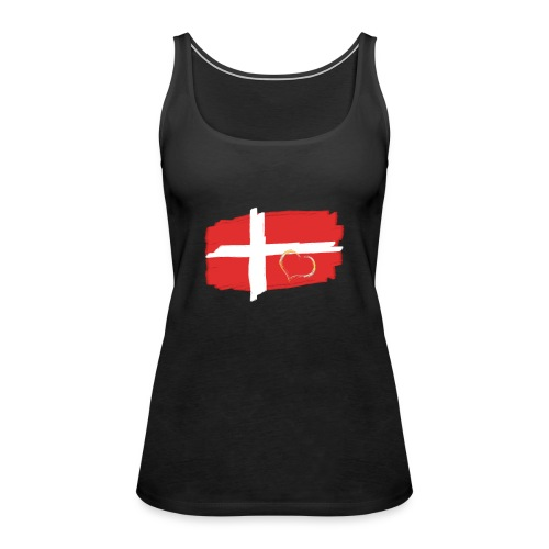 Dänemark Fahne mit Herz Flagge Land Nation - Frauen Premium Tank Top