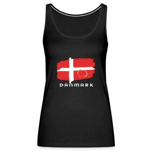 Dänemark Fahne Flagge dänisch Schrift Herz - Frauen Premium Tank Top