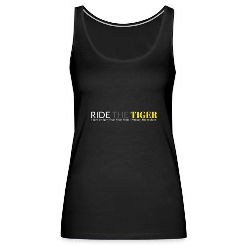 Logo Ride the tiger white-grey-yellow - Débardeur Premium Femme