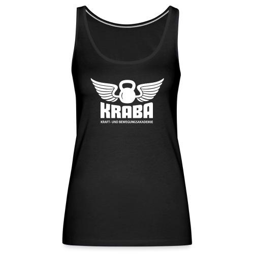 KRABA Logo weiß - Frauen Premium Tank Top