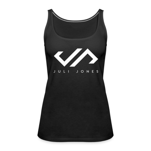 JuliJones white Logo - Frauen Premium Tank Top