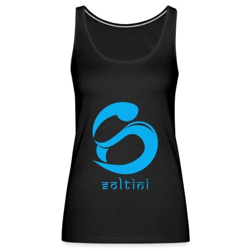 SoltiSquad Blue Logo for Soltini (Female) - Women's Premium Tank Top