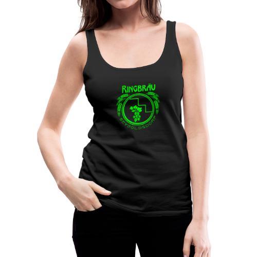 ringbraeu green scanline - Frauen Premium Tank Top