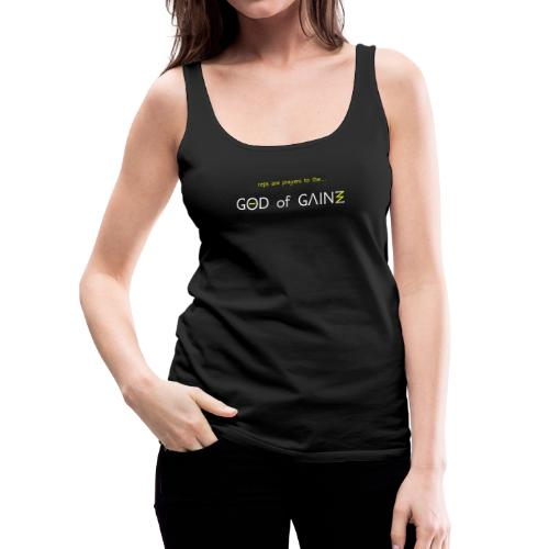 reps are prayers to the god of gains - Women's Premium Tank Top