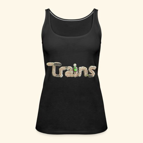 Colourful eagle eye's view of model trains - Women's Premium Tank Top