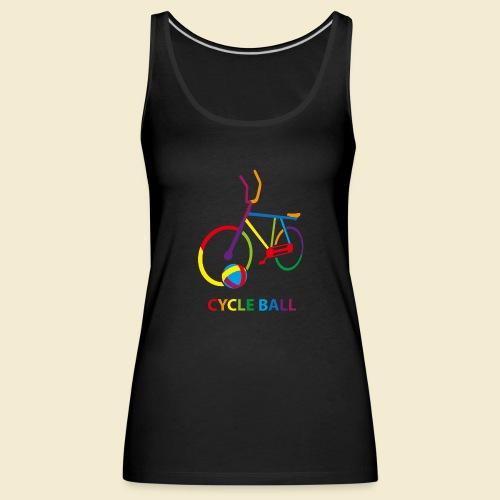 Radball | Cycle Ball Rainbow - Frauen Premium Tank Top