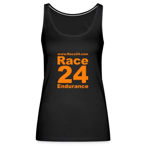 Race24 Logo in Orange - Women's Premium Tank Top