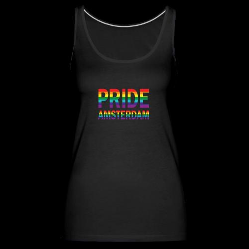 Pride Amsterdam in regenboog kleuren - Vrouwen Premium tank top