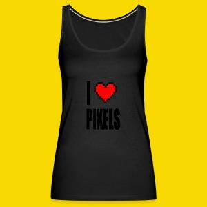 I Love Pixels - Tank top damski Premium