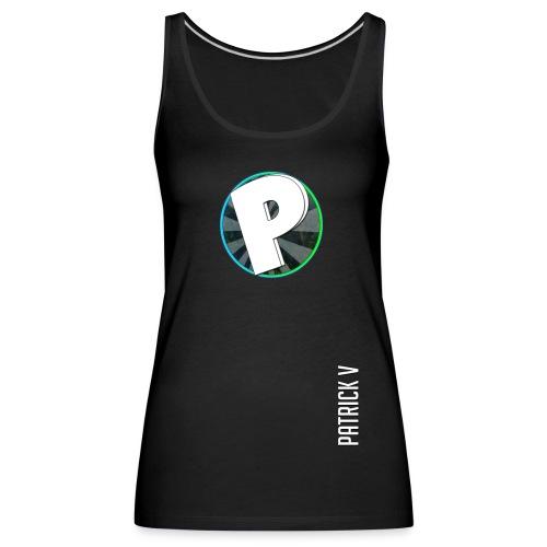 logo patrick v + name - Women's Premium Tank Top