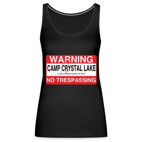 Camp Crystal Lake No Trespassing - Débardeur Premium Femme