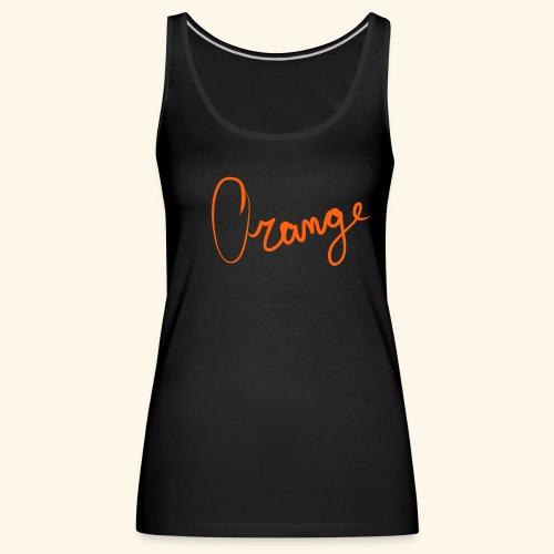 Orange - Vrouwen Premium tank top