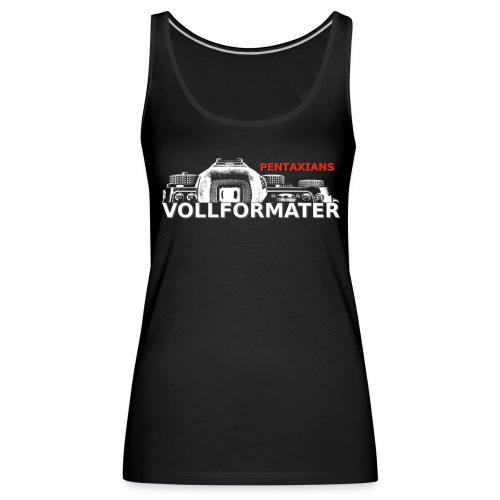 Pentaxians VOLLFORMATER white Logo - Frauen Premium Tank Top