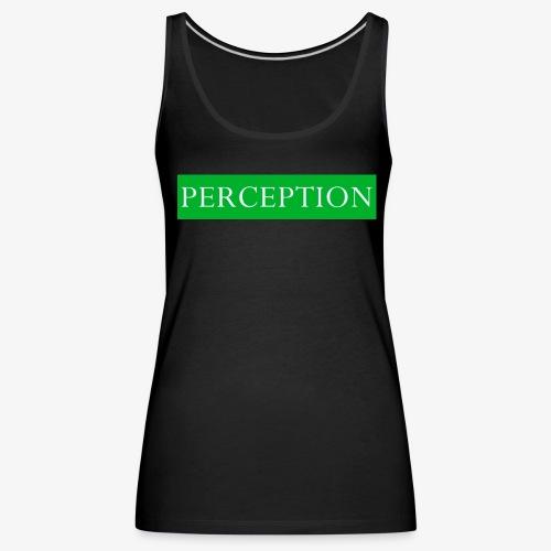 PERCEPTION CLOTHES VERT ET BLANC - Débardeur Premium Femme