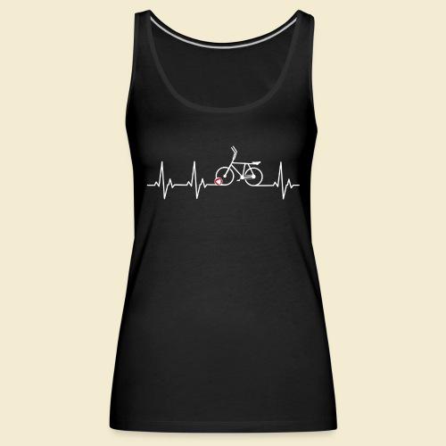 Radball | Heart Monitor White - Frauen Premium Tank Top
