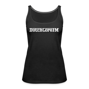 DutchCoreFM Logo White - Women's Premium Tank Top