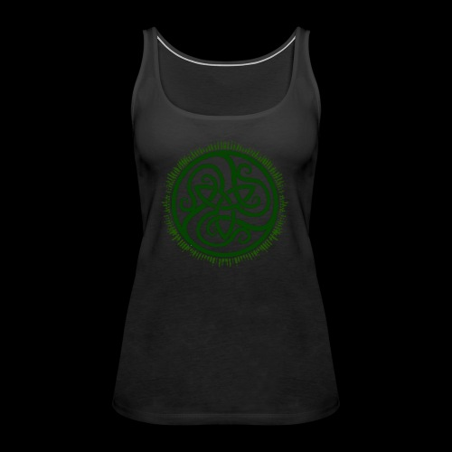 Green Celtic Triknot - Women's Premium Tank Top