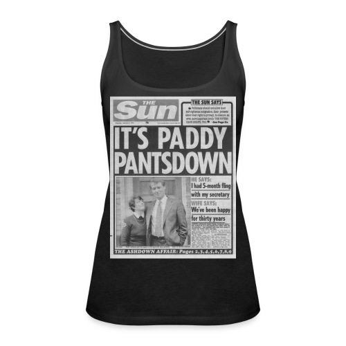 It s Paddy Pantsdown FP BW - Women's Premium Tank Top