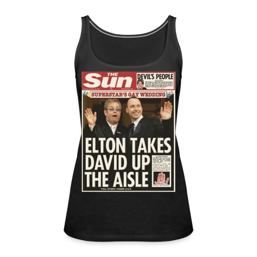 Elton Takes David Up The Aisle FP C - Women's Premium Tank Top