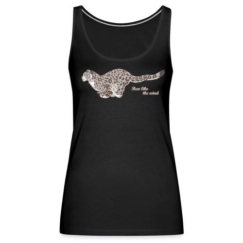 Snow Leopard: Run Like the Wind - Tank top damski Premium