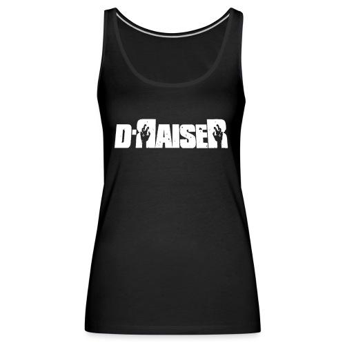 D RAISER LOGO BLANCO - Camiseta de tirantes premium mujer
