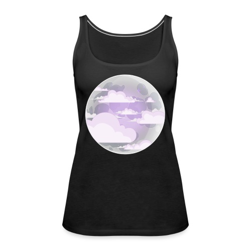 clouds - moon - Women's Premium Tank Top
