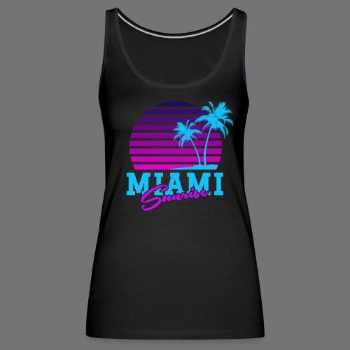 MIAMI SUNRISE t-shirts - Women's Premium Tank Top